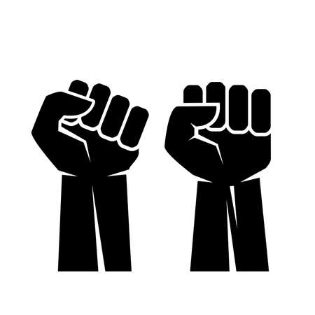Raised fist hand vector icon