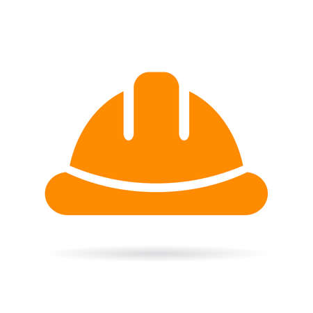 hard: Yellow hard hat vector icon Illustration
