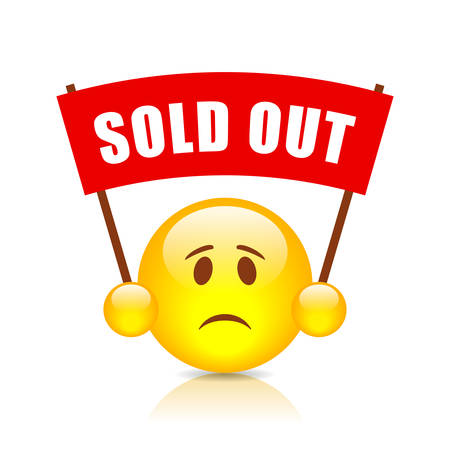 Sold out vector sign Illustration