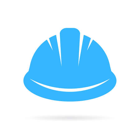 labourer: Worker hard hat vector icon