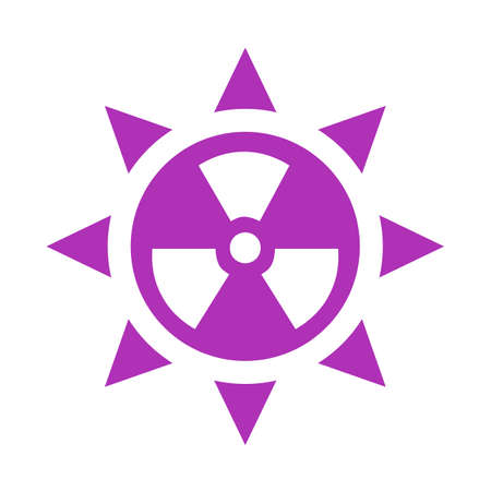 sunbath: Ultraviolet radiation vector icon