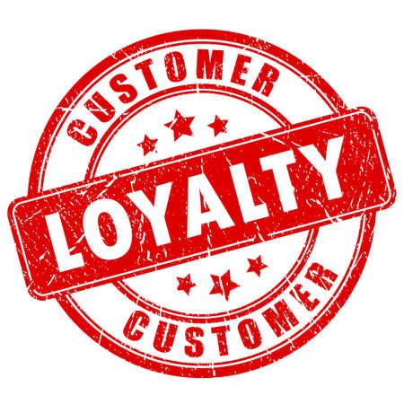 Zakelijke stempel van klanten loyaliteit inkt Vector Illustratie
