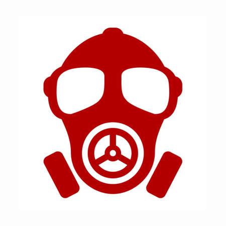 contamination: Gas mask vector icon Illustration