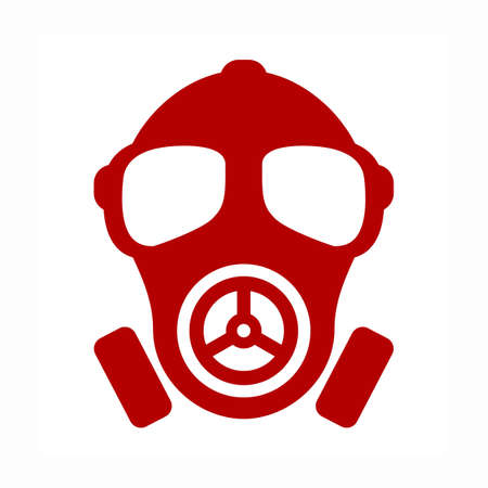 Gas mask vector icon Illustration