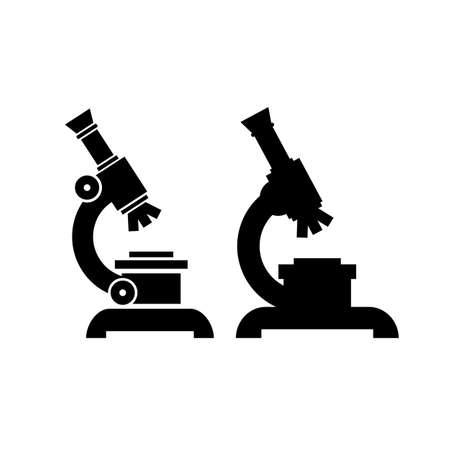 Microscope vector icon set