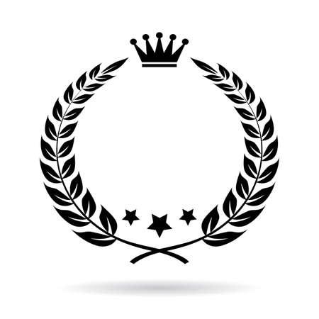star award: Empty laurel border vector icon