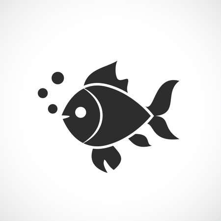 Fish vector silhouette icon