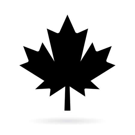 canadian flag: Maple leaf vector pictogram