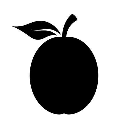 icon vector: Plum vector shape icon Illustration