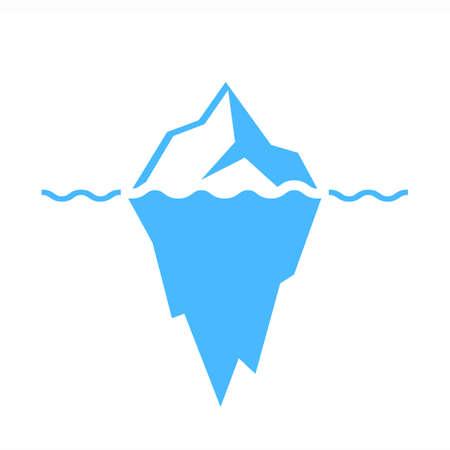 Iceberg del vector del icono