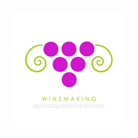 Wine vector logo