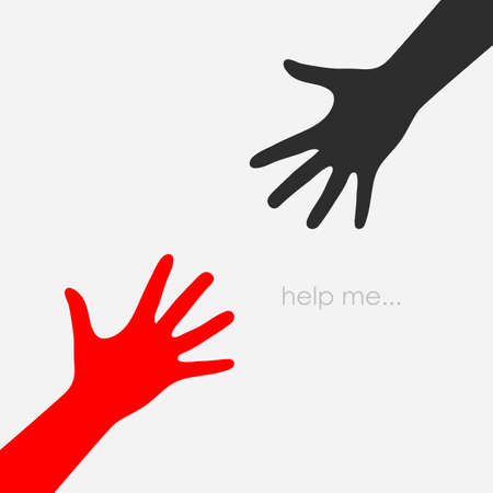 help: Helping hand vector icon Illustration
