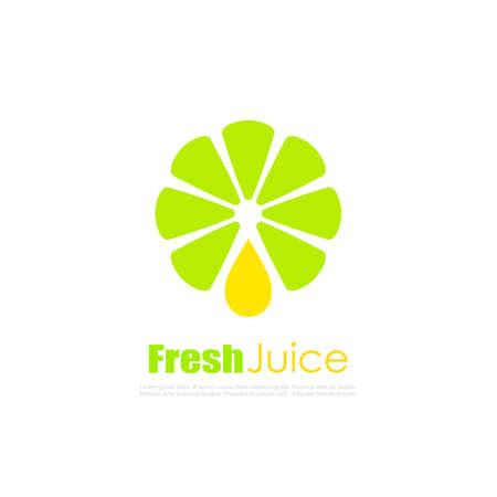 Natural juice vector logo