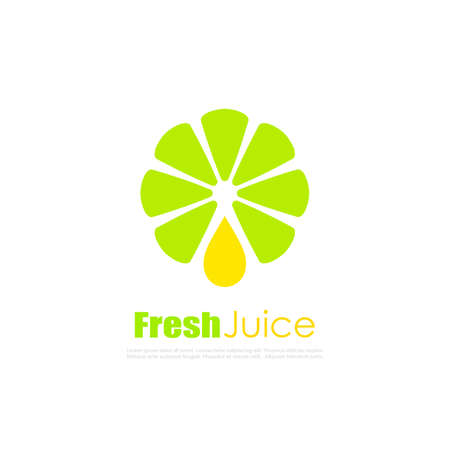 Natural juice vector logo