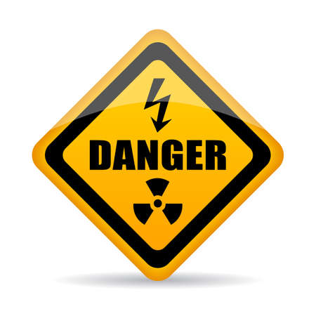 hazard: Danger warning vector sign Illustration