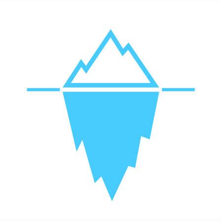 Ijsberg blauw vector pictogram