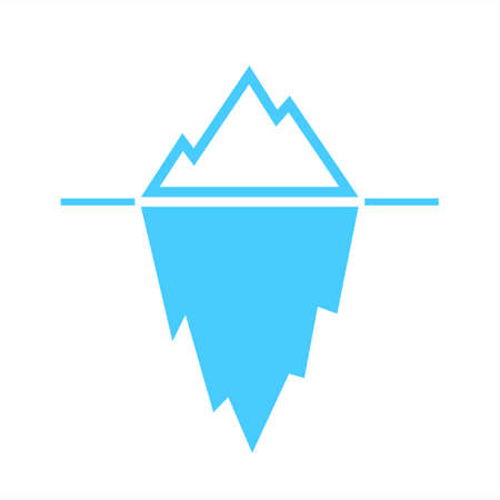 Iceberg blue vector pictogram