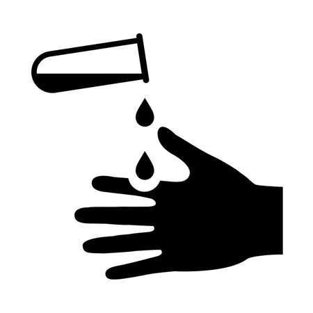 Danger acid warning pictogram Illustration