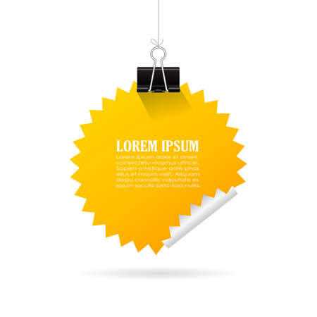 Hanging yellow note paper