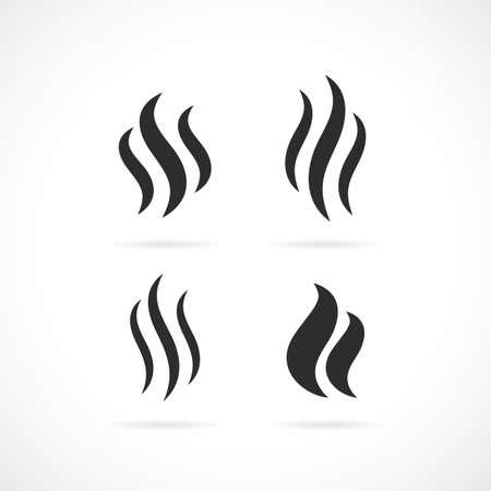 Icono de vector de humo Foto de archivo - 79097005