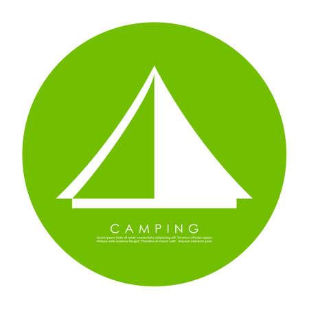 Tent vector icon Illustration