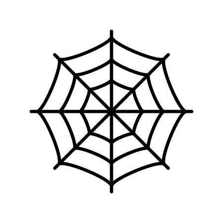 Spider web vector icon Illustration