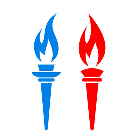 freedom: Torch fire vector icon Illustration
