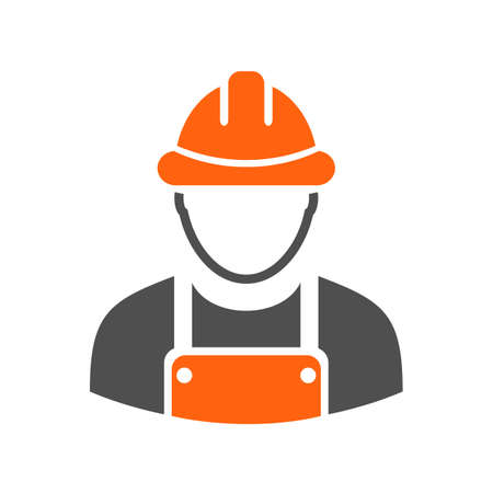 Builder uniform work man icon