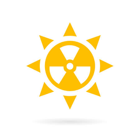 hazard: Sun radiation vector icon