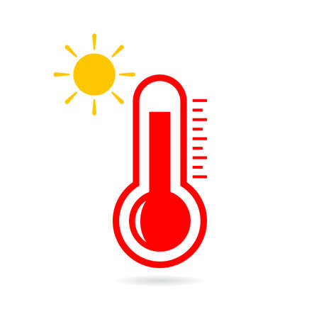 humidity: High temperature vector icon Illustration