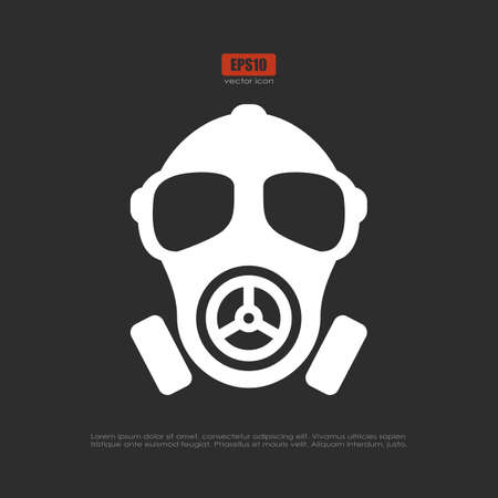 Gas mask vector pictogram