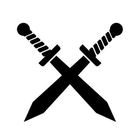Sword cross vector icon