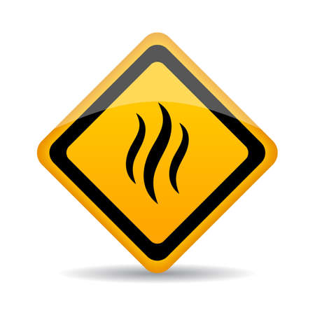 Smoke warning vector sign Illustration