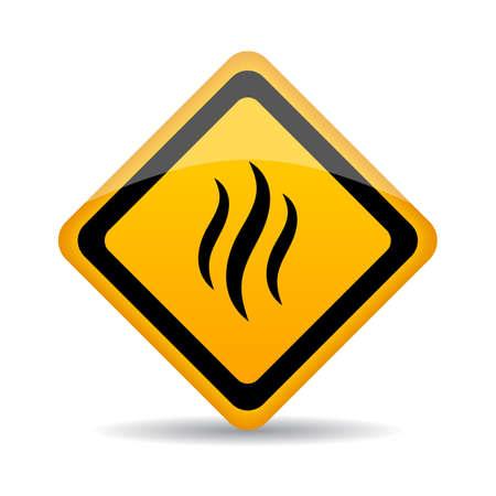 Smoke warning vector sign Illustration