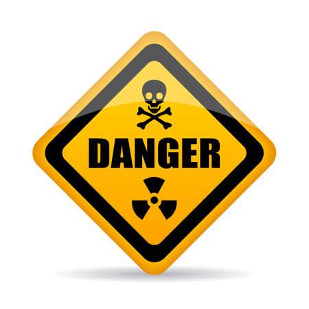 biohazard sign: Abstract danger vector sign