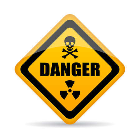Abstract danger vector sign