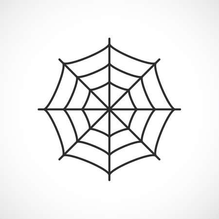 toils: Spider web vector pictogram