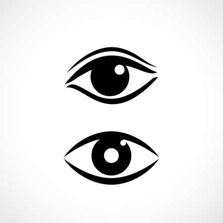 big: Women eyes vector icon