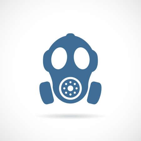 Old rubber respirator vector icon
