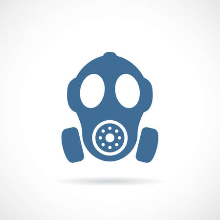 Old rubber respirator vector icon