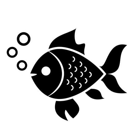 underwater fishes: Fish vector icon