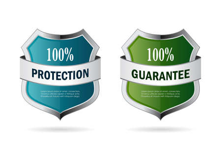 protect: Blue and green secure shield icon