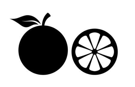 Pomarańczowy ikonę sylwetki wektora Ilustracje wektorowe