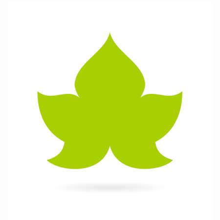 Vine green leaf icon
