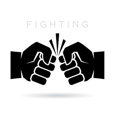 warriors: Abstract fighting vector icon