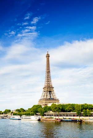Seine river and Eiffel tower photo