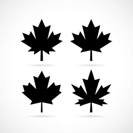 fall leaves: Maple tree leaf vector set Illustration