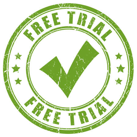 attempt: Free trial tick rubber stamp