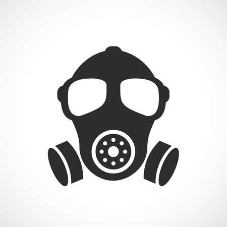 Oude militaire rubberen respirator vector icoon Stock Illustratie