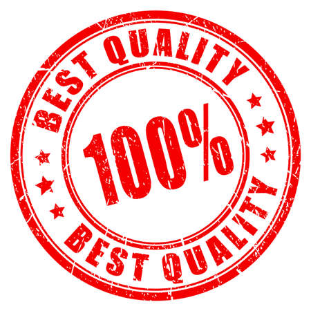 round logo: Best quality guarantee rubber stamp